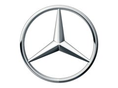 Radiateurbevestiging voor een mercedes-benz