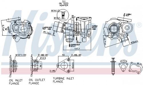 Turbocharger NISSENS