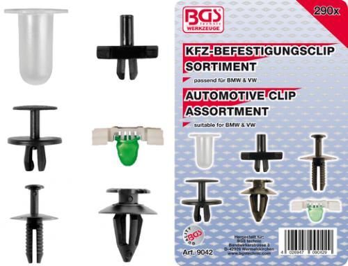 BGS technic Assortiment bevestigingsclips voor BMW & VW | 290-dlg (9042) BGS technic (9042)