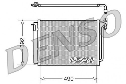 Condensor, airconditioning DENSO