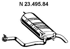 EBERSPÄCHER Einddemper (23.495.84) EBERSPÄCHER (23.495.84)