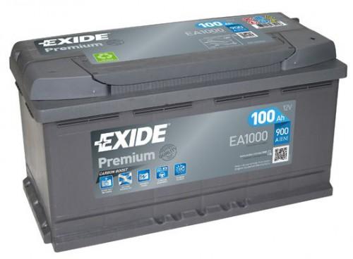 Accu ( 100AH ) - premium carbon boost 2.0  EXIDE