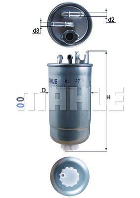 DELPHI Kraftstofffilter HDF515 für AUDI FIAT SEAT SKODA VW