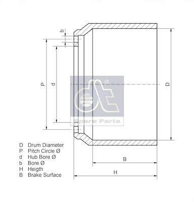 DT Spare Parts Remtrommel (7.34130) DT Spare Parts (7.34130)