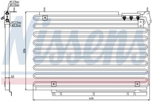 Condensor, airconditioning NISSENS