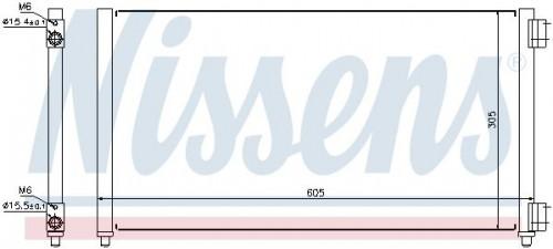 NISSENS Condensor, airconditioning (94633) NISSENS (94633)