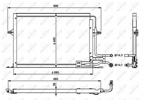 NRF Condensor, airconditioning (35139) NRF (35139)