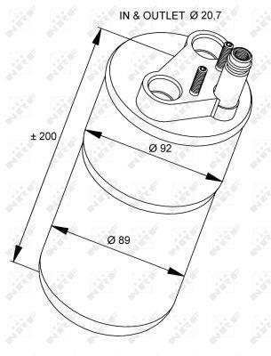 NRF Droger, airconditioning (33216) NRF (33216)