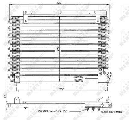 NRF Condensor, airconditioning (35191) NRF (35191)