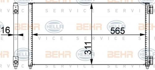 Condensor, airconditioning HELLA