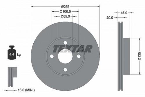 TEXTAR TEXTAR Remschijf (92096800) (92096800)