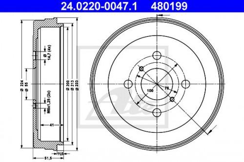 ATE Remtrommel (24.0220-0047.1) ATE (24.0220-0047.1)