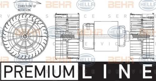 HELLA HELLA Interieurventilatie (8EW 351 043-381) (8EW 351 043-381)
